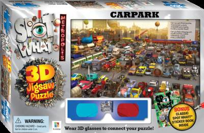 Spot What! Metropolis 3D Jigsaw Carpark by Nick Bryant