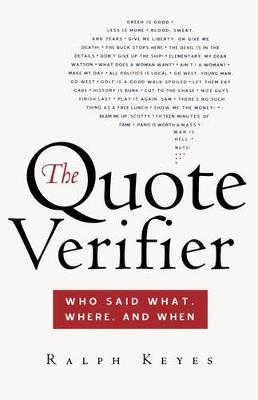 Quote Verifier by Ralph Keyes