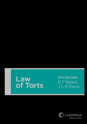 Law of Torts by R.P. Balkin