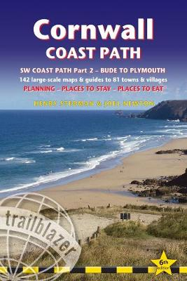 Cornwall Coast Path: Practical walking guide with 142 Large-Scale Walking Maps & Guides to 81 Towns & Villages - Planning, Places to Stay, Places to Eat - Bude to Plymouth (Trailblazer British Walking Guide) by