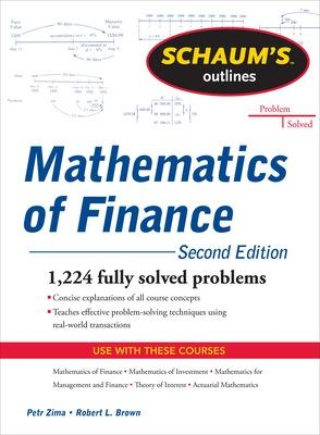Schaum's Outline of  Mathematics of Finance, Second Edition by Robert Brown
