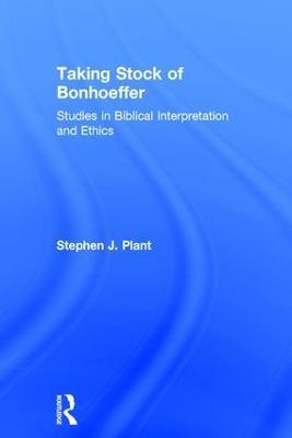 Taking Stock of Bonhoeffer book