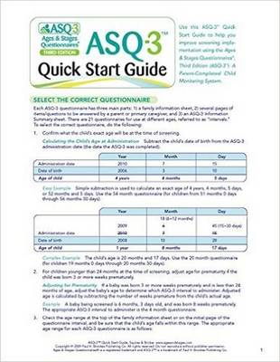Ages & Stages Questionnaires (R) (ASQ-3 (TM)): Quick Start Guide (English) by Jane Squires