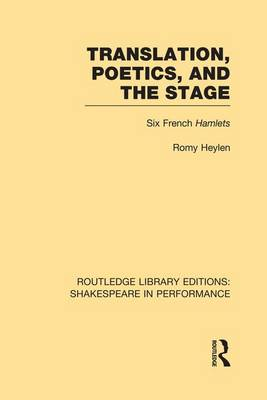 Translation, Poetics, and the Stage book