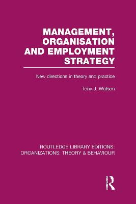 Management Organization and Employment Strategy book