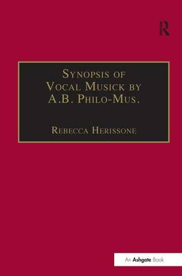 Synopsis of Vocal Musick by A.B. Philo-Mus. book
