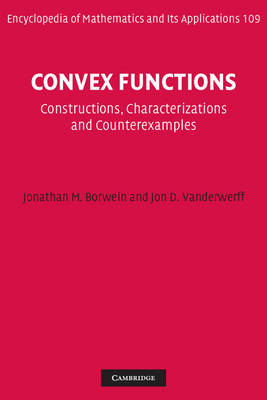 Convex Functions by Jonathan M. Borwein