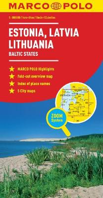Estonia, Latvia, Lithuania Map: The Baltic States by Marco Polo