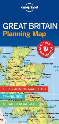 Lonely Planet Great Britain Planning Map book