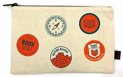 Reading Merit Badges Pencil Pouch by Gibbs Smith Publisher