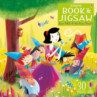 Usborne Book and Jigsaw Snow White and the Seven Dwarfs by Lesley Sims