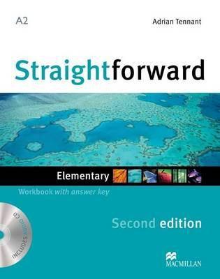 Straightforward 2nd Edition Elementary Level Workbook with key & CD by Adrian Tennant