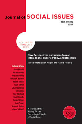 New Perspectives on Human-animal Interactions -   Theory, Policy and Research by Sarah Knight