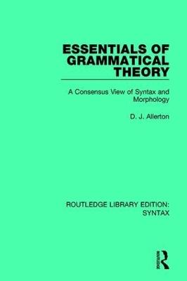 Essentials of Grammatical Theory book