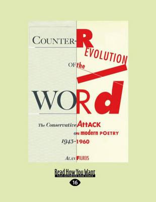 Counter-Revolution of the Word (2 Volume Set) by Alan Filreis