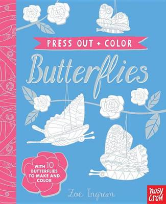 Press Out and Color: Butterflies book