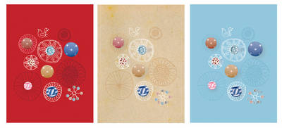 Buttons 3 Mini Notebooks by Michelle Mackintosh