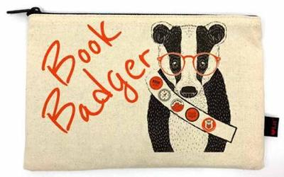 Book Badger Pencil Pouch by Gibbs Smith Publisher