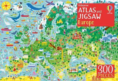 Usborne Atlas and Jigsaw Europe by The Boy Fitz Hammond