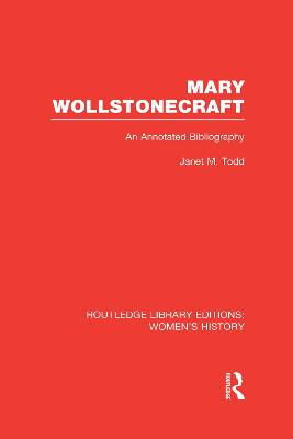 Mary Wollstonecraft by Janet Todd