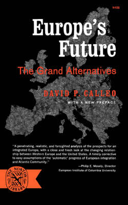 Europe's Future by David P Calleo