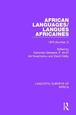 African Languages/Langues Africaines book
