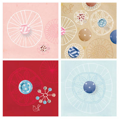 Buttons Boxed Notecards by Michelle Mackintosh