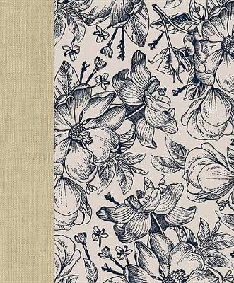 Ceb Wide-Margin Navy Floral Bible book