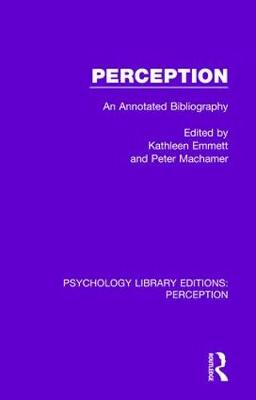 Perception: An Annotated Bibliography book