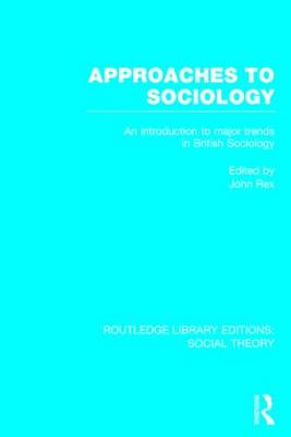 Approaches to Sociology book