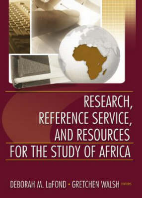 Research,Reference Service,and Resources for the Study of Africa by Linda S. Katz