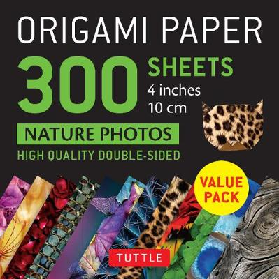 Origami Paper 300 sheets Nature Photo Patterns 4 inch (10 cm) by Tuttle Publishing