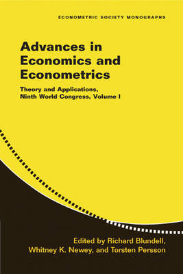 Advances in Economics and Econometrics by Richard Blundell