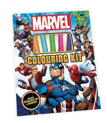 MARVEL COLOURING KIT book