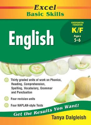 Excel Basic Skills - English Kindergarten/Foundation by Tanya Dalgleish