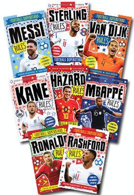 Football Superstars Set of 9 Books by David Bedford