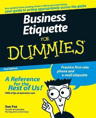 Business Etiquette For Dummies book