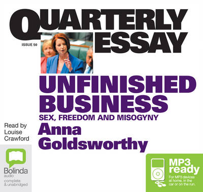 Unfinished Business by Anna Goldsworthy
