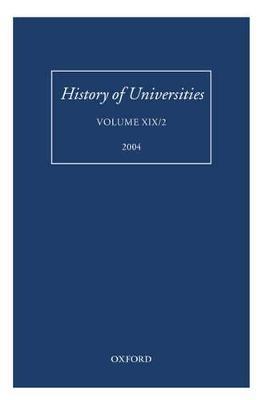 History of Universities by Mordechai Feingold