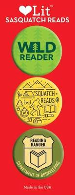 Sasquatch Reads 3-Button Assortment by Gibbs Smith Publisher