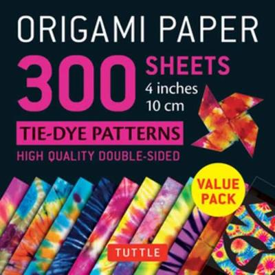 Origami Paper 300 sheets Tie-Dye Patterns 4 inch (10 cm) by Tuttle Publishing
