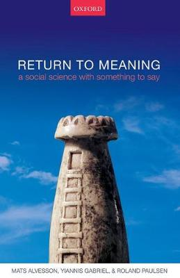 Return to Meaning book