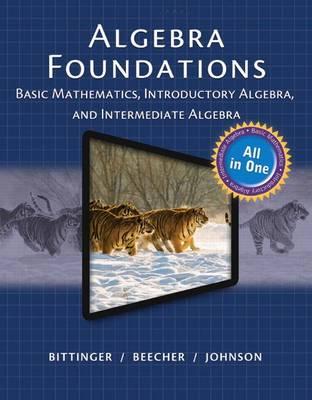 Bittinger Algebra Foundations book