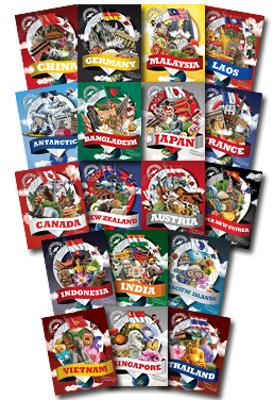 Globetrotters Set of 9 Books by Jane Hinchey