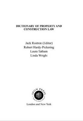 Dictionary of Property and Construction Law book