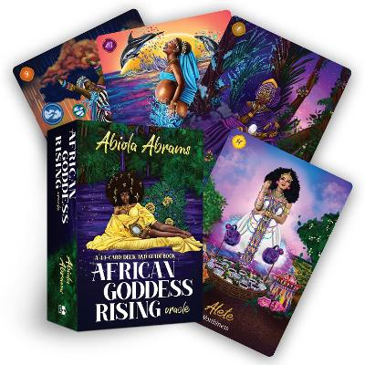 African Goddess Rising Oracle: A 44-Card Deck and Guidebook by Abiola Abrams