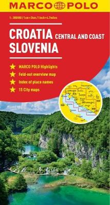 Croatia / Slovenia Marco Polo Map by Marco Polo