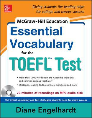 McGraw-Hill Education Essential Vocabulary for the TOEFL (R) Test with Audio Disk by Diane Engelhardt