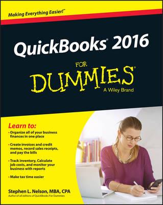 QuickBooks 2016 for Dummies book