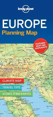 Lonely Planet Europe Planning Map book